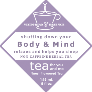Label of our Body & Mind Night Time Wellness Tea