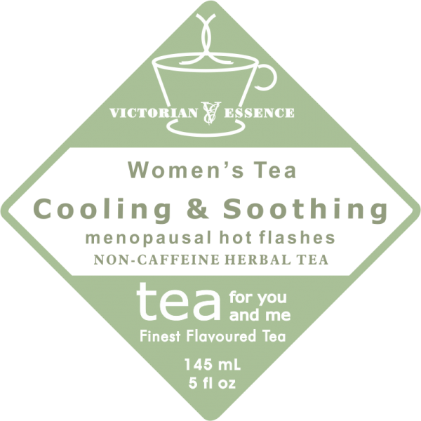 Label of our Cooling & Soothing PMS Wellness Tea