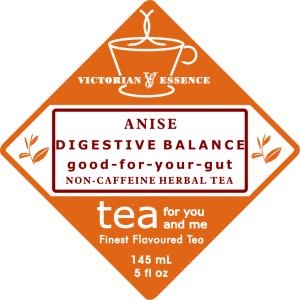 Label of our Digestive Balance Anise Wellness Tea