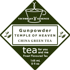 Label of our Gunpowder Temple of Heaven Green Tea