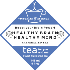 Label of our Healthy Brain Health Mind Wellness Tea