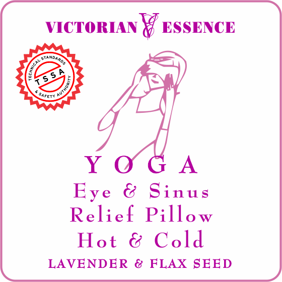 LAVENDER RELIEF PILLOW for Eye and Sinus Hand Sewn and Filled with Lavender Buds and Flax seeds