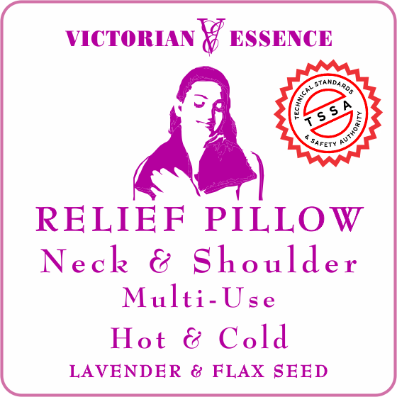 LAVENDER RELIEF PILLOW for Neck and Shoulder Hand Sewn and Filled with Lavender Buds and Flax seeds.