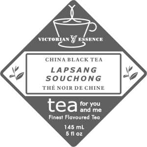 Label of our Lapsang Black Tea
