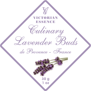 Label of our Lavender Bud Tea & Culinary Uses Wellness Tea