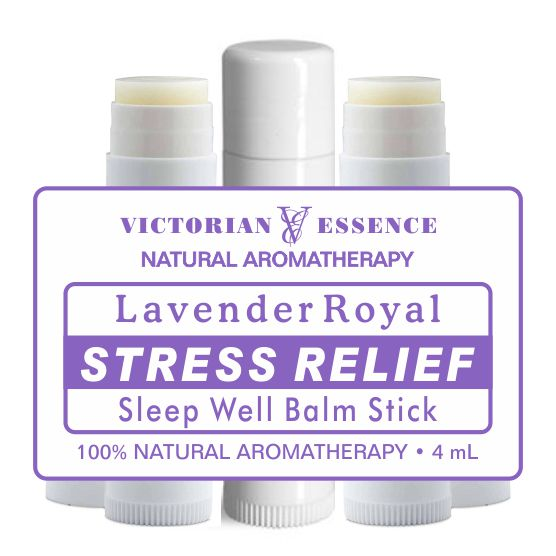 Lavender Royal in 4mL Stress Relief Balm Stick