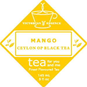 Label of our Mango Black Tea