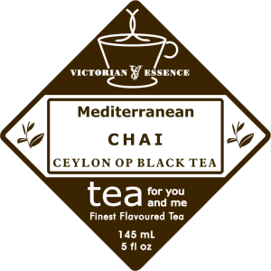 Label of our Mediterranean Chai Black Tea