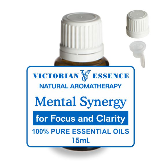 Mental Focus and Clarity Synergy Blend of Essential Oils in 15 mL bottle