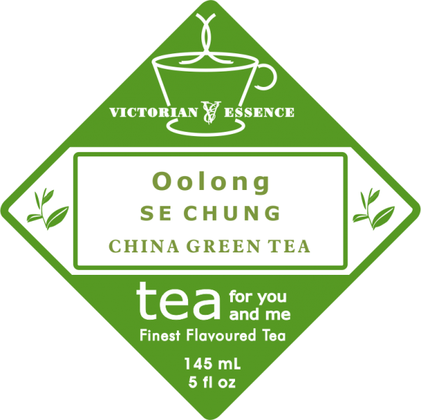 Label of our Oolong Se Chung Green Tea
