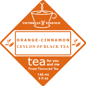Label of our Orange Cinnamon Black Tea