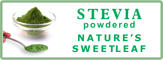 Label of our Powdered Ground Stevia Leaves Tea Sweetener