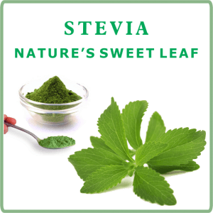 Label of our Stevia Tea Sweetener