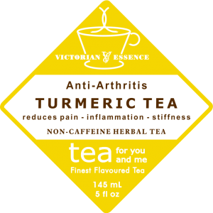 Label of our Turmeric Wellness Tea