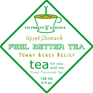 Label of our Upset Stomach Feel Better Wellness Tea