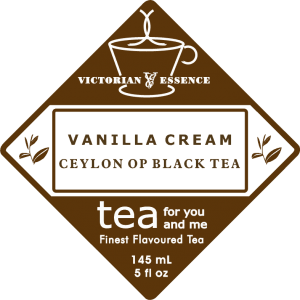 Label of our Vanilla Cream Black Tea