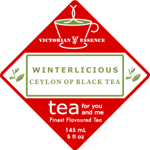 Label of our Winterlicious Black Tea