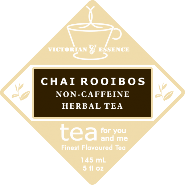 Label of our Chai Rooibos Tea