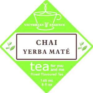 Label of our Chai Yerba Maté Tea