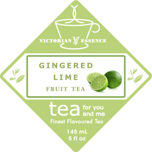 Label of our Gingered Lime Fruit Tea