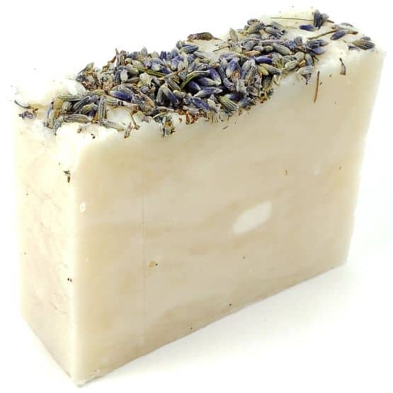 Our Freshly Made Single Bar 100% Natural Body Soap Bar, scented with our premium Lavender essential oil.