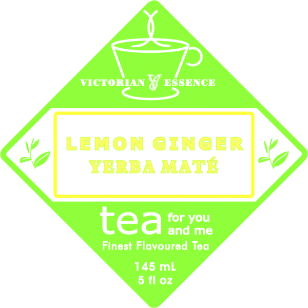Label of our Lemon Ginger Yerba Maté Tea