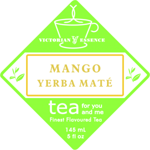 Label of our Mango Yerba Maté Tea