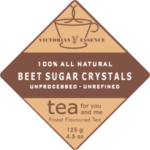 Label of our Natural Beet Sugar Crystals Tea Sweetener