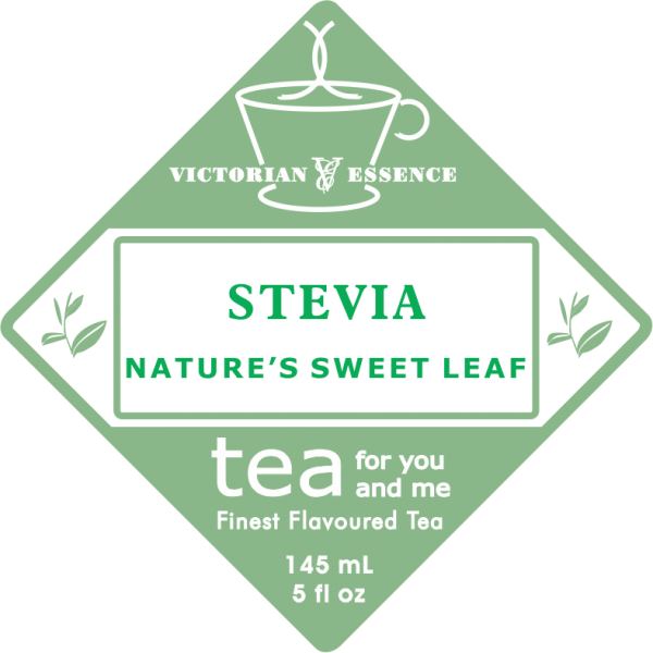 Label of our Stevia Leaves Tea Sweetener