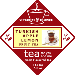 Label of our Turkish Apple Lemon Fruit Tea