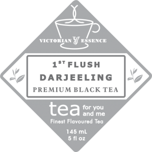 Label of our Black 1st Fush DARJEELING Tea