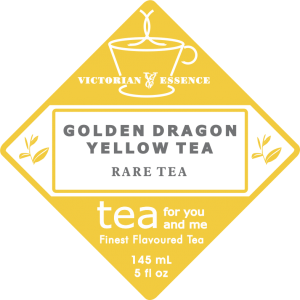 Label of our GOLDEN DRAGON YELLOW TEA