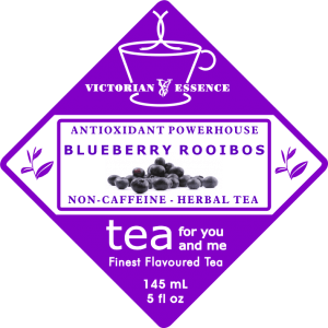Our Blueberry Rooibos Tea Label